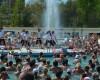 Gimnastica in apa la strandurile Complexului Appolo-Felix